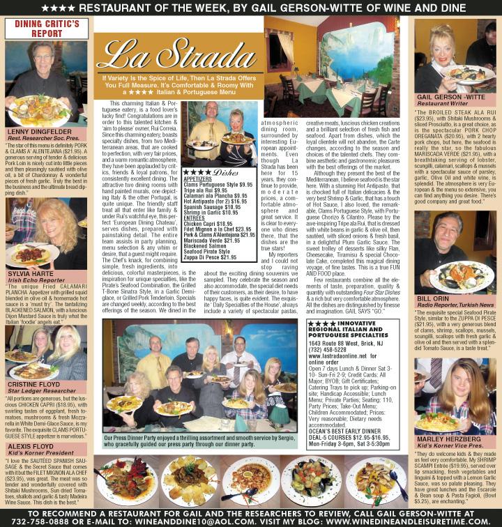 La Strada Regional Italian Portuguese Cuisine In A