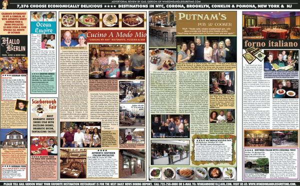 Putnam's, Cucino A Modo Mio, Forno Italiano, Hallo Berlin, Ocean